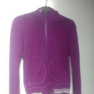 Lululemon Hoodie light wieght purple &white sz 6